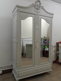 furniture white armoire wardrobe with mirror door on cozy kahrs