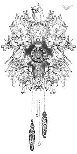 cuckoo clock tattoo commission by ollerina on deviantart