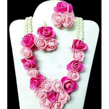 flower jewellery buy flower jewellery for haldi and mehandi online looksgud in