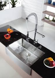 kitchen faucet one stainless steel kitchen sink combination kraususa