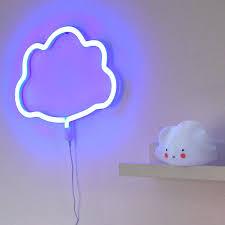 lumiere chambre enfant néon nuage bleu