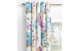 Floral Lined Curtains Collection Edie Floral Lined Eyelet Curtains 168x229cm 6069430