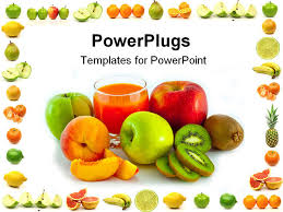 fruits powerpoint template fruit border free download clip art
