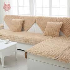 canape style modern style pink camel white grey fur sofa cover plush