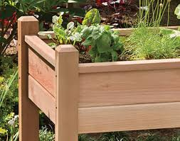 red cedar elevated planter
