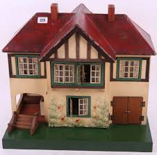 House With Garage A 1950s Triang Stockbroker Dolls House With Garage And Porch