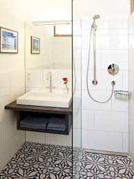 Houzz Black And White Bathroom Small Bathroom Floor Tile Houzz