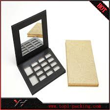 china newest design magnetic paper eyeshadow packaging case makeup