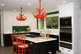 kitchen decorating ideas with red accents pink and gold wallpaper