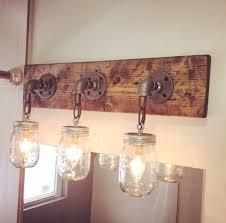Bathroom Lighting Pinterest Wondrous Rustic Bathroom Lighting Fixtures Best 25 Vanity Light