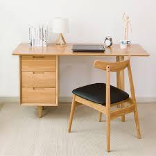 nordic bois massif pur chêne bureau 1 4 m moderne et minimaliste