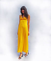 Canary Yellow Dresses For Weddings Yellow Dresses Weddings Vintage 1960s Maxi Dress Yellow