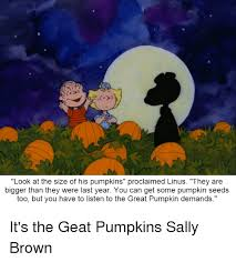Charlie Brown Memes - 25 best memes about it s the great pumpkin charlie brown it s