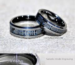 doctor who wedding ring 6mm or 8mm doctor who inspired tardis tungsten wedding ring
