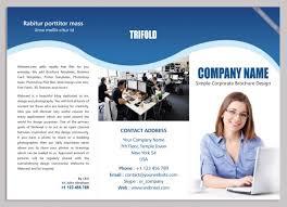 13 corporate trifold brochure design template freedownload