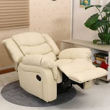 Cream Leather Club Chair Seattle Cream Leather Recliner Armchair Sofa Home Lounge Chair
