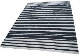 White Cotton Rug Black And White Stripe Rug 9x12 Cotton Rug