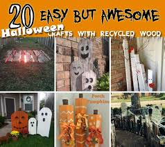 halloween decorations made at home 20 halloween decorations crafted from reclaimed wood amazing diy