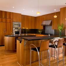 modern kitchen with cherry wood cabinets photos hgtv