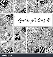 set hand drawn zentangle pattern zentangle stock vector 406274722