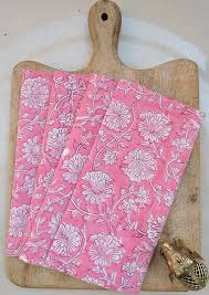 light pink dinner napkins our gorgeous riti set of 4 light pink block print napkins are