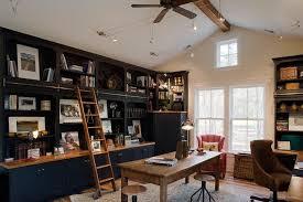 Home Office Bookshelves by Ladder Bookshelf Home Office Traditional With Bookshelves Built In
