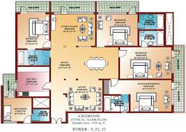 plain four bedroom flat plan regarding bedroom shoise com