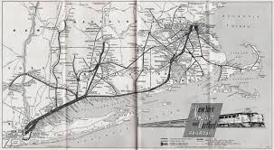 New York Rail Map by The New Haven Railroad