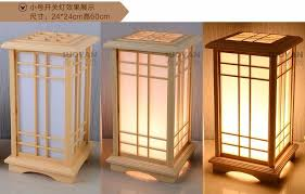 Japanese Floor Lamp Led Wooden Lamp Stand Lighting Floor Creative Through Carved Floor