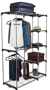 internets best portable closet organizer double rod freestanding