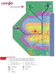Spain Train Map by Valencia Train Map 2017
