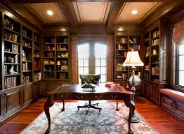 interior rustic style home office library interior ideas and