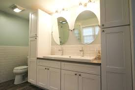 bathroom vanity and linen cabinet home decorating interior