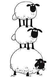 flock sheep stack shaun sheep coloring