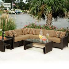 Rattan Table L Patio Stunning Outdoor Conversation Set Patio Wicker Furniture L
