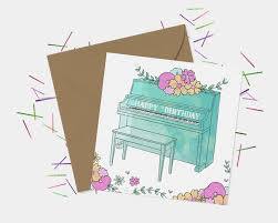 piano birthday card by seablue designs notonthehighstreet com