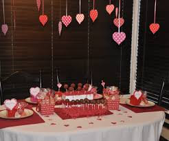 gray valentines day heart table decorations romantic at home