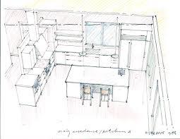 brilliant kitchen design sketch in inspiration