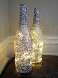 christmas wine bottle decorations coated wine bottle lights