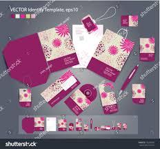 Business Card Invitation Vector Corporate Design Business Artworks Folder Stock Vector