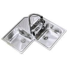 evier de cuisine d angle évier d angle en lnox lisse angie 2 bacs 1 2 1 égouttoir