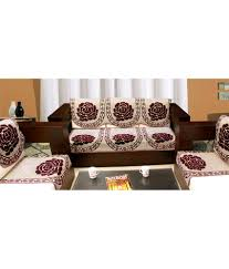 Blue Eyes Designer Jacquard Weaved Sofa Cover Set For  Seater - Sofa cover designs
