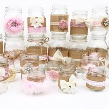 baby shower centerpieces for a girl shabby chic centerpieces jars rustic baby shower baby