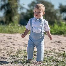 boys light blue dress pants baby boy light blue boy suspenders suit ring bearer linen