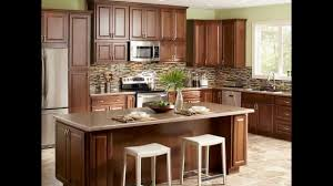 Mosaic Tile Backsplash Kitchen Furniture Elegant Dark American Woodmark With Mosaic Tile