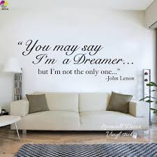 living room song the beatles song lyrics wall sticker living room john lennon dreamer