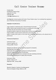 Resume For Call Center Sample Sample Resume For Call Center Job Download Augustais