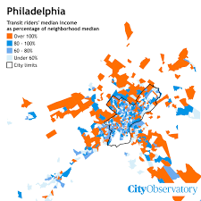 Philadelphia America Map by The Suburbs Where The Rich Ride Transit City Observatory