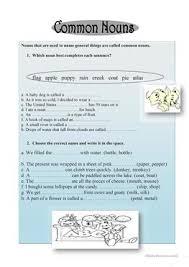 21 free esl common nouns worksheets