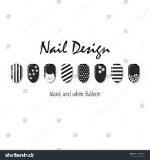 nails art templates vector layout black stock vector 369007493